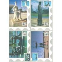 Brasil 1990 - 4 Máximos Postais Lubrapex Brasília Escultura