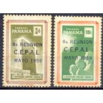 Selo Panamá,série 8°reunião Com.econ.américa Lat 1959,novo.