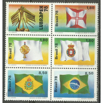 154 Sls- Brasil- Lote Com 6- Selo Postal- 1978- Vll Lubrapex