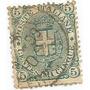 Selo Itália,armas Casa De Savóia,5c Tp D 1891/97.ver Descr.