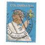 Selo Colombia 1986,visita Papa João Paulo 2° Usado.