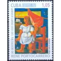Selo Cuba,pintor René Portocarrero 2012,mint.ver Descrição.
