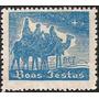 Lote - 9545 - Brasil - Etiqueta De Natal - Azul