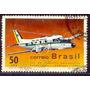 Selo Brasil,ind. Aeronaútica /avião Bandeirante 1969 ,usado.