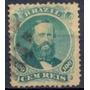 Selo Brasil,d.pedro 2° Denteado,100 Réis 1866,usado.v Descr.