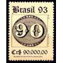 Selo Brasil,150 Anos Olhos De Boi,90,00 1993,mint.ver Descr.