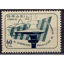 Selo Brasil,3°congresso Brasileiro Aeronautica 1955,mint.