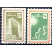 Selo Panamá,série 10°aniv.dec.univ.dir.humanos 1959,novo.