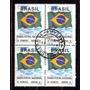 Brasil 1992 * Quadra * 1º Porte Nacional * Bandeira Brasil