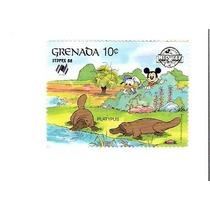 Lindo Selo De Grenada - Mickey E Donald - Vejam A Foto !!!