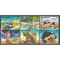 =cp:106= Disney= Série 6 Selos= Minnie/ Donald & Sobrinhos