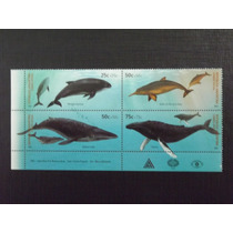Fauna Cetaceos - Serie Com 4 Selos