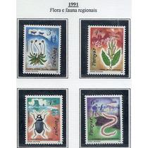 Faroyar Flora Fauna Inseto 1991 Série Mint