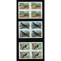 Brasil 1978 * Quadras* Proteção Fauna * Pássaros Brasileiros