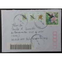 Brasil 1997 - Envelope Circulado Selos Pássaros Aves Fauna
