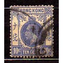 Hong Kong 1912-14 * Inglaterra * Rei George V * 10c .ultram