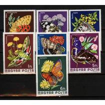 Ms2394* Hungria, Selos Com Tema Fauna, Borboletas Diversas