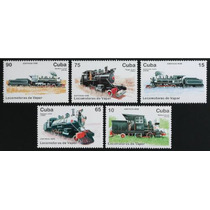 Selos - Trens - Cuba 1996 - Locomotivas Mnh