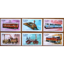Selos - Trens - Cuba 1988 (locomotivas) Mnh