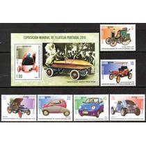 Cuba 2010 - Carros Elétricos. 6 Selos + 1 Bloco