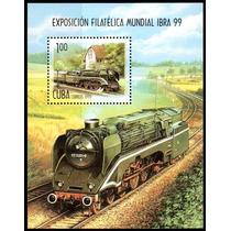 Cuba 1999 - Locomotiva. Expo Filatélica. Bloco