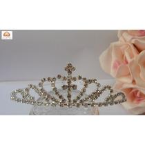Coroa, Tiara De Strass Pequena, Debutante, Noiva, Fantasia