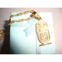 Colar Corrente Egipcio Plated De Ouro 18k, Aprox 55cm Import