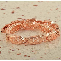 Pulseira Bracelete Ouro Rose 9k Gold Filled