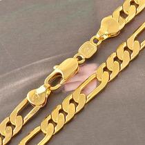 Cordão Masculino Folheado Ouro 50cm E 6mm Espessura