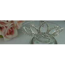 Coroa Tiara De Strass, Debutante, Noiva, Fantasia, Princesa