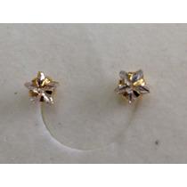 Brinco Segundo Furo Semi- Jóia Estrela De Zirconia Ouro 18k