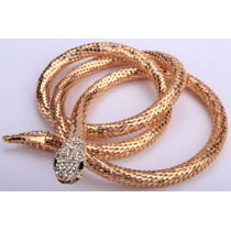 Bracelete/colar/cinto 3 Em 1 De Cobra Com Cristais Clear