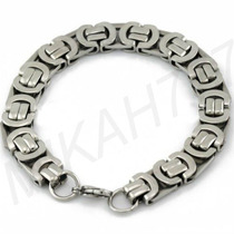 Pulseira/bracelete Masculino Aço Inox 316l 10mm Frete Grátis