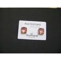 Brinco Rommanel Em Rhodium C/pedra De Cristal Ana Hickmann