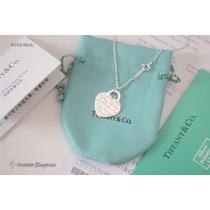 Colar Tiffany & Co. Coração Chapado Em Prata 925