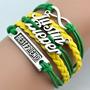 Pulseira Bracelete Best Friend Justin Bieber Verde E Amarelo