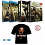 Blu-ray The Walking Dead 1ª, 2ª, 3ª E 4ª Temporadas + Camisa