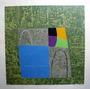 Tito De Alencastro - Abstrato Com Fundo Verde - Serigrafia