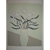 Fang - Vaso De Flores Ii - Deslumbrante Serigrafia