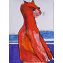 Aldemir Martins - Gato - 23,5x16,5cm - 1996 - De 549 Por 349