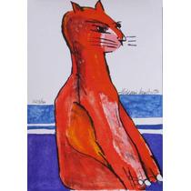 Aldemir Martins - Gato - 23,5x16,5cm - 1996 - 23/100