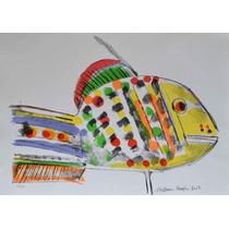 Aldemir Martins - Peixe - 30/100 - 50x36cm - 2003 - Moldura