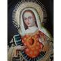 Sagrado Coração De Maria * Pintura Escola Cusquenha * Linda