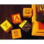 Promoção Maleta Blocos Alfabeto Cubo Letras Formas Madeira