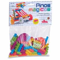 Pinos Mágicos 100 Peças - Brinquedo De Montar - Elka