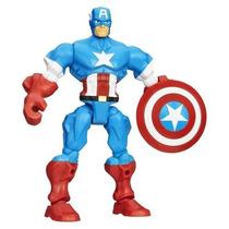 Boneco Marvel Mashers Captain America
