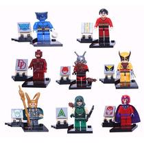 Lego - 8 Peças - Ant Man - Wolverine - Fera - Loki - Etc
