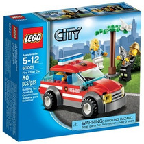 60001 - Lego® City - Carro Do Chefe Dos Bombeiros