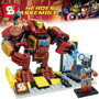 Lego Similar Super Herois Homem De Ferro Ultron Robo 261 Pcs
