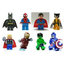 Kit 8 Bonecos Herois E Vingadores Similar Lego
